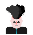 smoke from head open head brain blowing vector image vector image