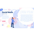 social media promotion template vector image vector image