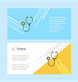 stethoscope abstract corporate business banner vector image vector image