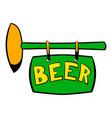 street signboard pub icon icon cartoon vector image vector image