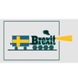 Sweden and EU relationships Brexit text vector image vector image