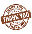 thank you brown grunge round vintage rubber stamp vector image vector image