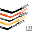 tire tread marks infographic vector image vector image
