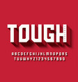 tough bold display font design alphabet vector image vector image