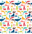 Underwater seamless pattern with fishes octopus