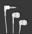 vacuum earphones white l vector image vector image