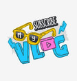 vlog video blog social media cartoon style design vector image