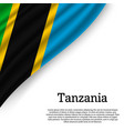 waving flag of tanzania vector image vector image