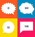 White Speech Bubbles Set 2 vector image