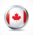 Canada flag button vector image