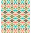 Retro color snowflake seamless pattern vector image