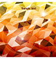 Abstract orange background Combination of triangle vector image vector image