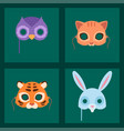 animals carnival mask festival decoration vector image vector image