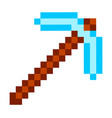 arrow archer isolated pixel weapon made vector image