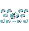 bank card emotions emoticons set isolated on white vector image vector image