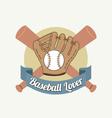 Baseball Lover vector image