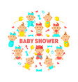 bashower banner template cute arrival vector image vector image