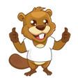 beaver mascot cartoon