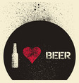 beer typographic stencil spray grunge poster vector image