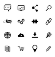 Black Seo Icons Set vector image vector image