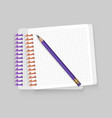 blank spiral notepad notebook with realistic vector image
