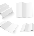 Blank white booklet template vector image vector image