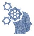 brain mechanics fabric textured icon vector image vector image