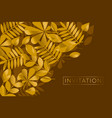 brown and gold leaves pattern vector image vector image