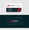 business card server red color vector image vector image