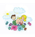 Cartoon family vector | Price: 1 Credit (USD $1)