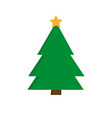 christmas tree icon xmas symbol outline design vector image