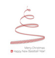 christmas tree twisted in form lacing from vector image vector image