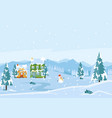cold winter season landscape flat vector image