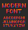 color bright gradient font vector image