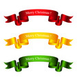 colorful bright banners merry christmas vector image