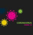 coronavirus covid19-19 background vector image vector image