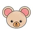 cute scribble mouse face cartoon vector image vector image