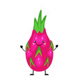 dragon fruit in flat styl vector image