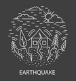 earthquake natural disaster vector image vector image