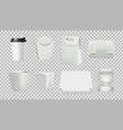fast food package realistic 3d food isolated vector image