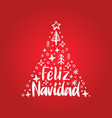 feliz navidad handwritten phrase translated from vector image