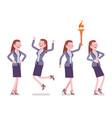 female teacher positive emotions vector image vector image