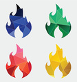 fire icon Abstract Triangle vector image vector image