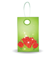 floral gift tag vector image
