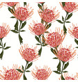 floral seamless tropical pattern vector image vector image