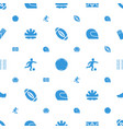 football icons pattern seamless white background vector image vector image