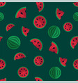 fruity seamless pattern with melons fruit vector image vector image