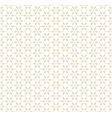 geometric gold and white seamless pattern vector image
