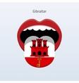 Gibraltar language Abstract human tongue vector image vector image