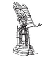 gothic lectern vintage vector image vector image